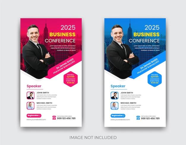 Design de modelo de história do instagram para conferências de negócios