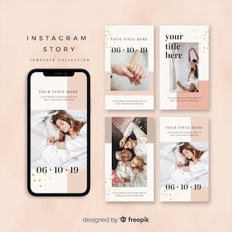 Design de modelo de histórias do instagram
