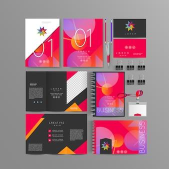 Design de modelo de identidade corporativa de cor