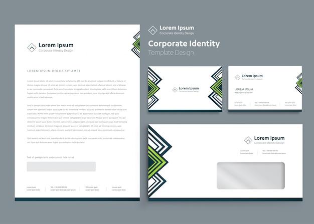Design de modelo de identidade corporativa de negócios de papelaria clássico