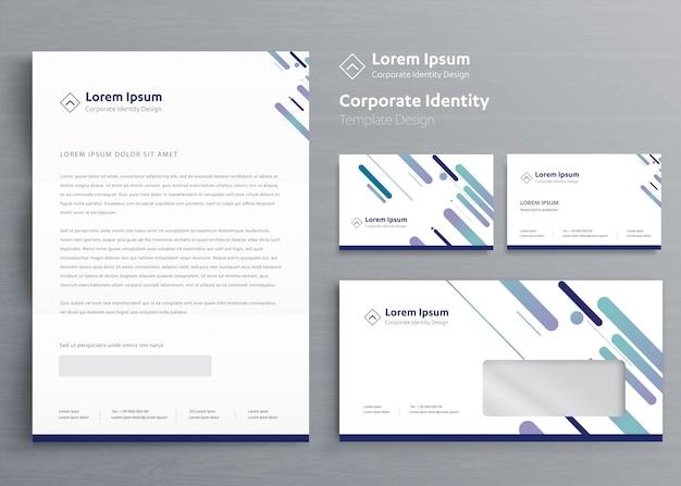 Design de modelo de identidade corporativa de negócios
