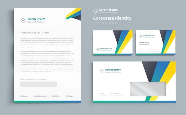 Design de modelo de identidade de negócios corporativos vector