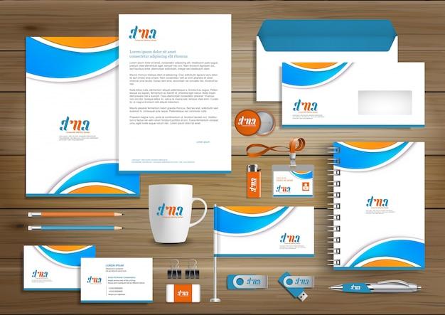 Design de modelo de identidade de negócios corporativos