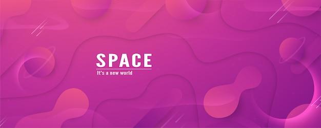 Design de modelo de ilustração 3d no conceito de espaço na galáxia do universo.