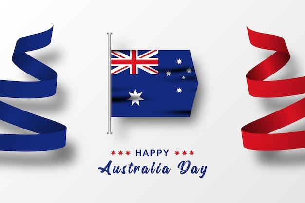 Design de modelo de ilustração de celebração do feliz dia da austrália