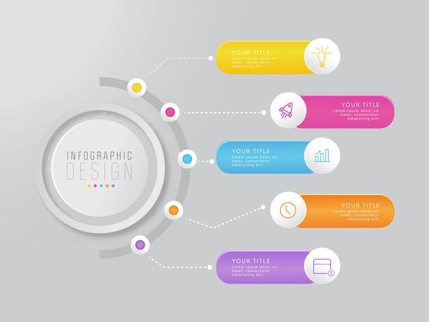 Design de modelo de infográfico de negócios