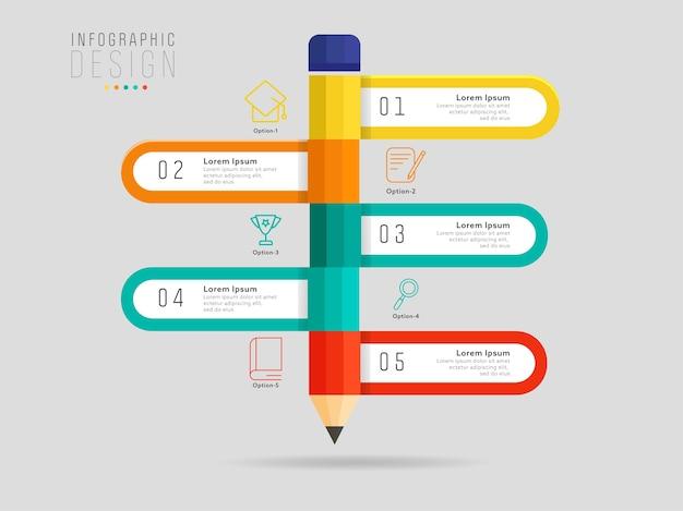 Design de modelo de infográfico para educação