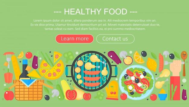 Design de modelo de infográficos de comida saudável