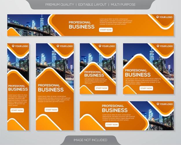 Design de modelo de kit de promoção de negócios