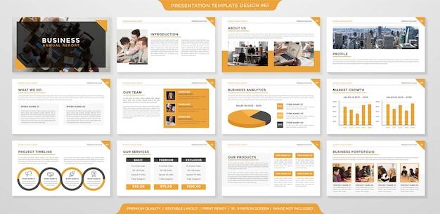 Design de modelo de layout de apresentação de negócios