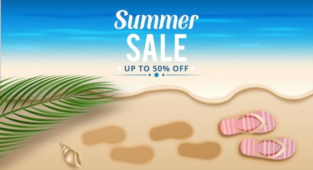 Design de modelo de layout de banner de venda verão.