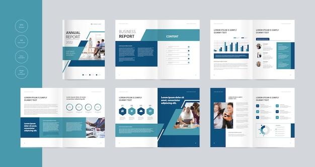 Design de modelo de layout de brochura comercial