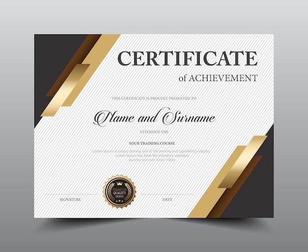 Design de modelo de layout de certificado.