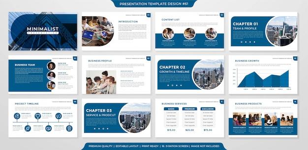 Design de modelo de layout de negócios minimalista
