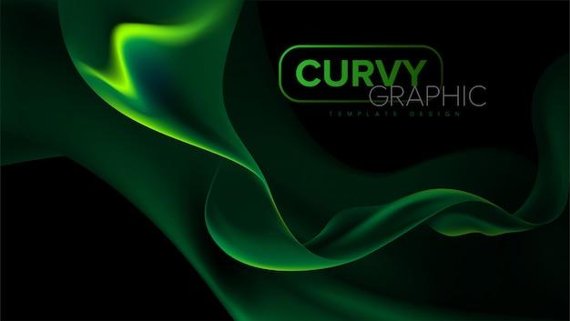 Design de modelo de listras curvas