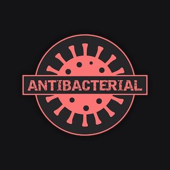 Design de modelo de logotipo antibacteriano