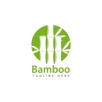 Design de modelo de logotipo bamboo Vetor Premium