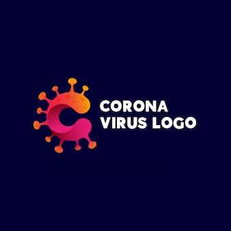 Design de modelo de logotipo covid19