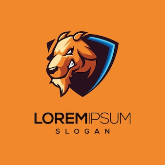 Design de modelo de logotipo de cabra