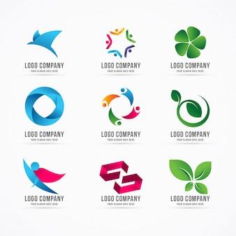 Design de modelo de logotipo de coleção