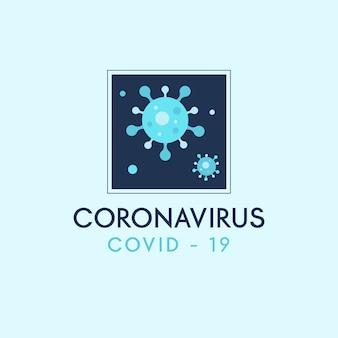 Design de modelo de logotipo de coronavírus