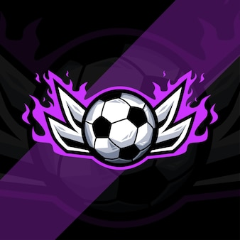 Design de modelo de logotipo de esporte de futebol