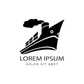 Design de modelo de logotipo de frete internacional rápido e global moderno