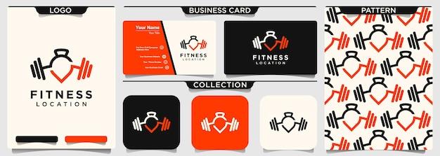 Design de modelo de logotipo de gym point