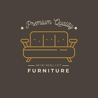 Design de modelo de logotipo de mobiliário minimalista