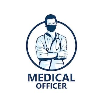 Design de modelo de logotipo de oficial médico