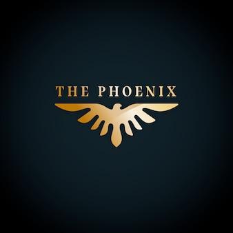Design de modelo de logotipo de phoenix
