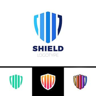Design de modelo de logotipo protegido de taxa de proteção
