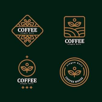Design de modelo de logotipo simples de café