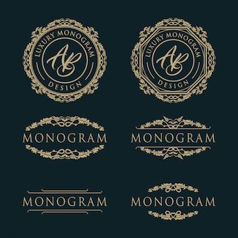 Design de modelo de luxo para casamento e decoração