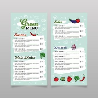 Design de modelo de menu de restaurante colorido