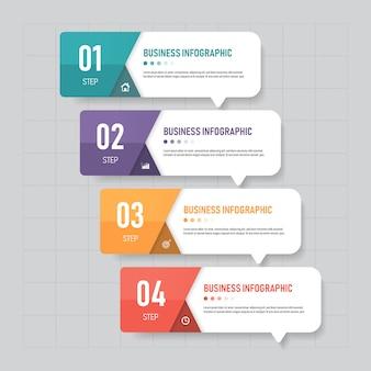 Design de modelo de negócio infográfico.