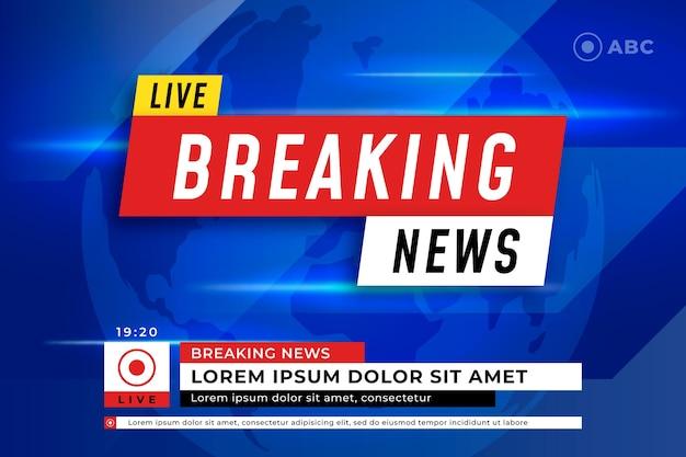 Design de modelo de notícias de última hora ao vivo