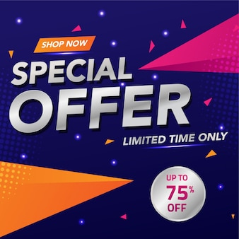 Design de modelo de oferta especial de banner de venda