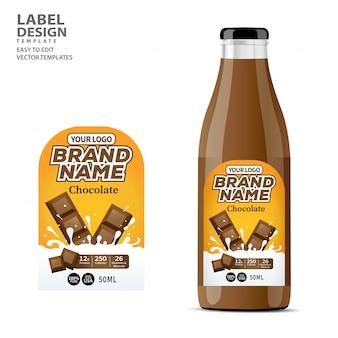 Design de modelo de pacote de rótulo de garrafa