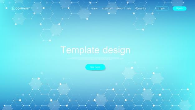 Design de modelo de página de aterrissagem médica. modelo de banner abstrato de cuidados de saúde.