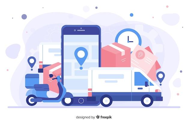 Design de modelo de página de destino para sites da empresa