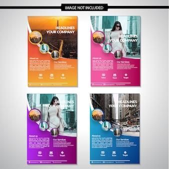 Design de modelo de panfleto de empresa moderna