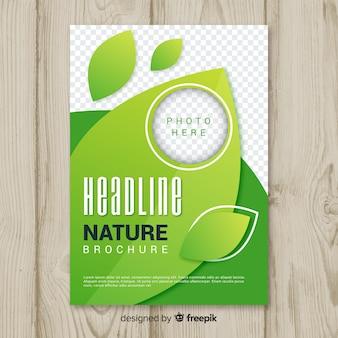 Design de modelo de panfleto de natureza