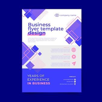 Design de modelo de panfleto de negócio abstrato de memphis
