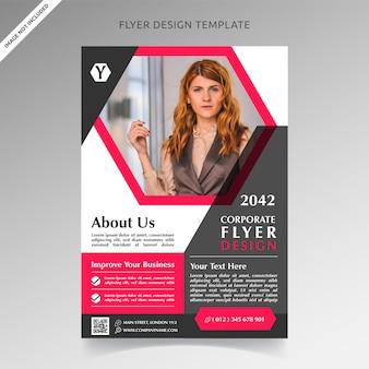 Design de modelo de panfleto de negócios corporativos feminino