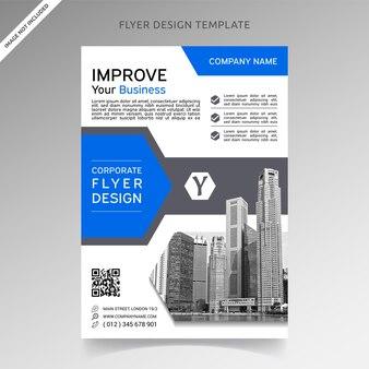 Design de modelo de panfleto de negócios corporativos profissional