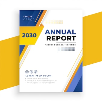 Design de modelo de panfleto de negócios moderno relatório anual