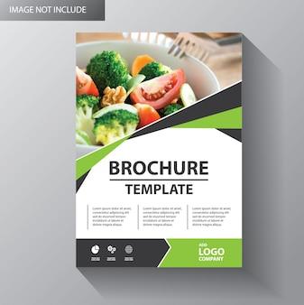 Design de modelo de panfleto para brochura de capa