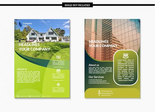 Design de modelo de panfleto verde