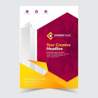 Design de modelo de panfleto